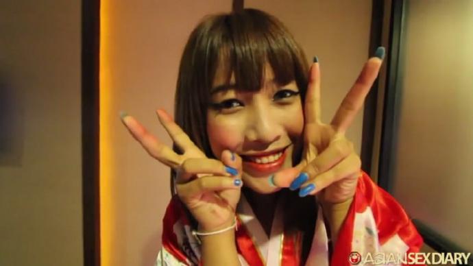 洋土豪米糕亚洲行体验日本风俗店和服妹子Aki细致服务