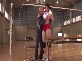 JUX-60-バレーボール国体出場経験有りの179cm長身ボディ!現役人妻体育教師AVデビュ